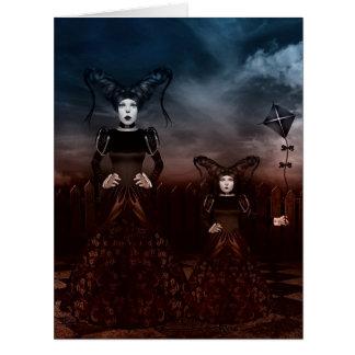 Tarjetas de felicitación góticas de los chicas