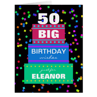 Tarjetas de felicitación grandes del cumpleaños cu