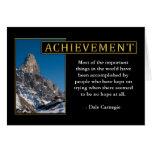 Tarjetas de felicitación inspiradas del logro