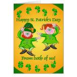 Tarjetas de felicitación irlandesas de la plantill