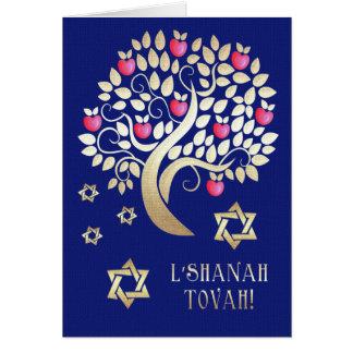 Tarjetas de felicitación judías del Año Nuevo de