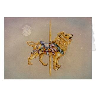Tarjetas de felicitación - león del carrusel