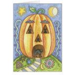 Tarjetas de felicitación lindas de Halloween