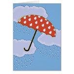 Tarjetas de felicitación lindas del paraguas