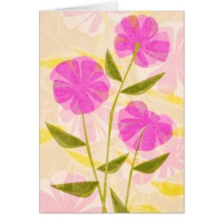 Tarjetas de felicitación modernas de las flores