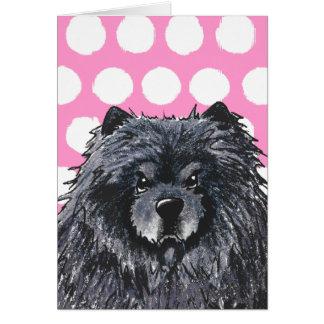 Tarjetas de felicitación negras del perro chino