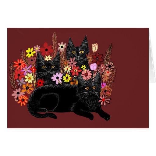 tarjetas de felicitación para los gatos de Bombay