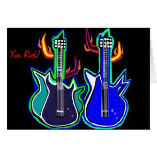 tarjetas de felicitación para los guitarlovers de