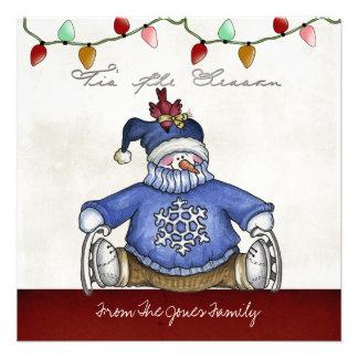 Tarjetas de felicitación planas del navidad anuncios personalizados