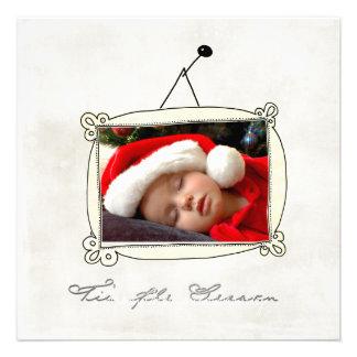 Tarjetas de felicitación planas del navidad invitacion personal