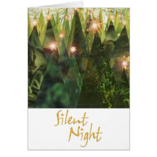 Tarjetas de felicitación silenciosas de la noche