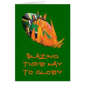 Tarjetas de felicitación surafricanas de la bander