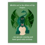 Tarjetas de felicitaciones divertidas del dragón