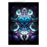 Tarjetas de felicitaciones encantadas del fractal