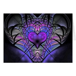 Tarjetas de felicitaciones luminescentes del fract