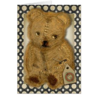 Tarjetas de felicitaciones viejas tristes del oso