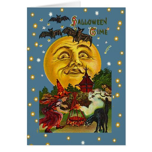 Tarjetas de fichar y postales de Halloween