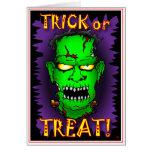 Tarjetas de Frankenstein del zombi