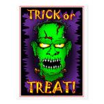 Tarjetas de Frankenstein del zombi Tarjeta Postal