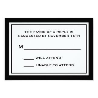 Tarjetas de general RSVP (negro/blanco) Invitaciones Personalizada