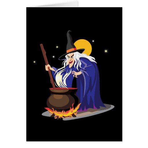 Tarjetas de Halloween del Brew de las brujas