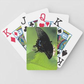 Tarjetas de índice enormes negras de Swallowtail Baraja De Cartas Bicycle
