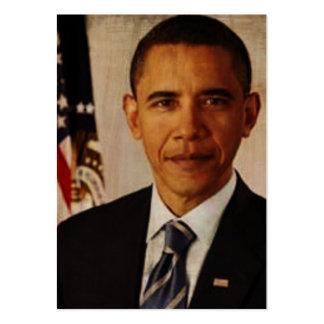 Tarjetas de información de Barak Obama Tarjeta De Visita