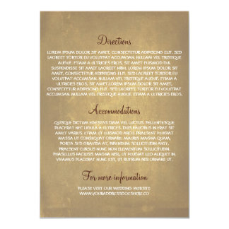 Tarjetas de información del boda con el roble invitación 11,4 x 15,8 cm
