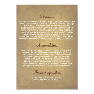 """Tarjetas de información del boda con el roble invitación 4.5"""" x 6.25"""""""