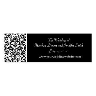 Tarjetas de información del Web site del boda Plantilla De Tarjeta Personal