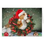 Tarjetas de Jingle Bell del beagle