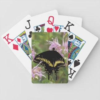 Tarjetas de juego negras de la cola del trago baraja