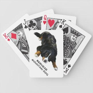 Tarjetas de la actitud de la manta del perro de mo baraja de cartas bicycle