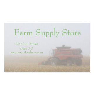 Tarjetas de la agricultura tarjetas de visita