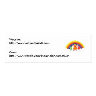 Tarjetas de la alternativa de Indianola Tarjetas De Visita Mini