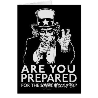Tarjetas de la apocalipsis del zombi del tío Sam