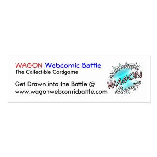 Tarjetas de la batalla de Webcomic del CARRO Tarjetas De Negocios