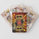 Tarjetas de la batalla del peluche cartas de juego
