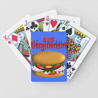 tarjetas de la bicicleta del das Burgermeister Cartas De Juego