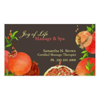 Tarjetas de la cita del balneario del masaje de la tarjetas de visita