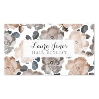 Tarjetas de la cita del estilista de los rosas del tarjetas de visita
