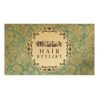 Tarjetas de la cita del estilista del damasco del  tarjetas de visita