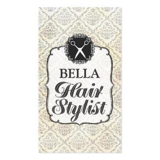 Tarjetas de la cita del estilista del papel pintad tarjeta de visita