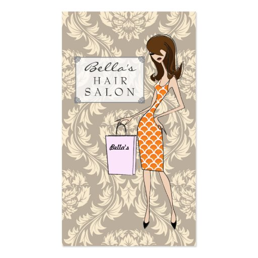 Tarjetas de la cita del salón de pelo del damasco  plantillas de tarjeta de negocio