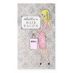 Tarjetas de la cita del salón de pelo del damasco  tarjetas personales