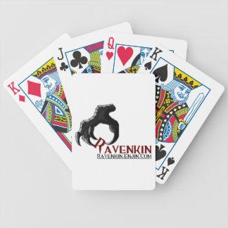 Tarjetas de la colección de la garra de Ravenkin Baraja Cartas De Poker