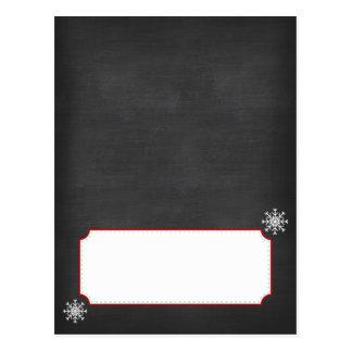 Tarjetas de la comida fría de la pizarra de tarjetas postales