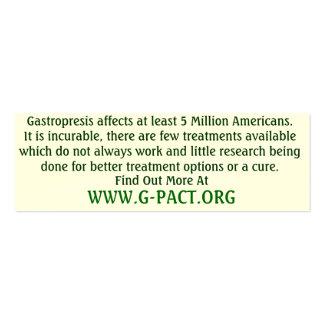 Tarjetas de la conciencia de Gastroparesis Tarjetas De Visita