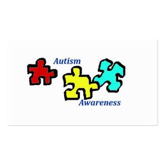 Tarjetas de la conciencia del autismo tarjeta de visita