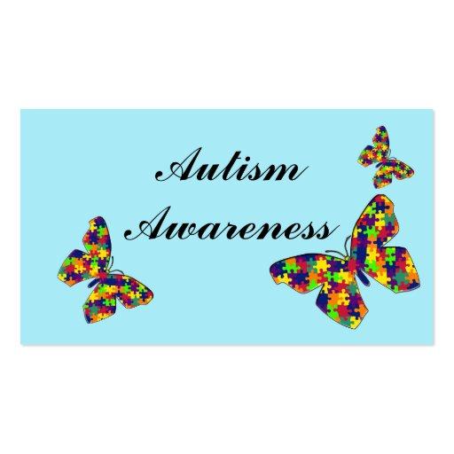 Tarjetas de la conciencia del autismo tarjeta de negocio